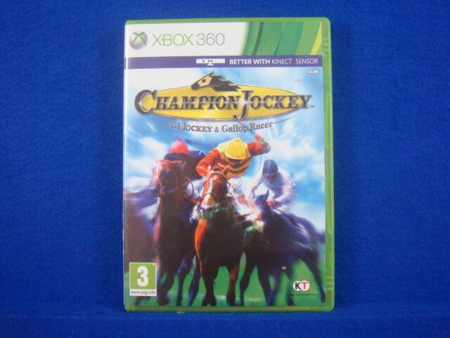 Xbox 360 CHAMPION JOCKEY Game Horse Racing G1 Jockey & Gallop Racer PAL