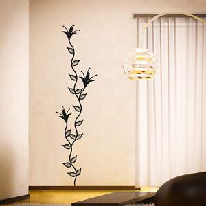 Wandtattoo-Blumen-Ranke-Blumenranke-Blueten-Aufkleber-Wall-Art-Wand-Tattoo-2062