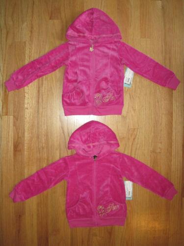 Twin girls Pop Star ButterFly Pink Velour hoodies jackets NWT 4 5 6 6X