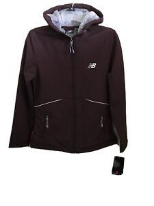 New-Balance-Medium-Weight-Jacket-Full-Zip-Hooded-Women-039-s-Size-Small-Burgandy