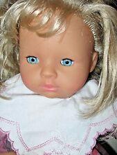 "Zapf Creation Vinyl/Cloth 16"" Doll  Blonde- Sleepy Eyes West-Germany"
