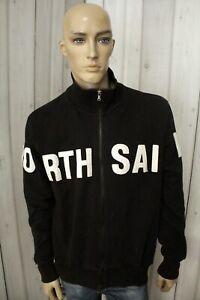 NORTH-SAILS-Uomo-Felpa-Maglione-Sweatshirt-Man-Maglietta-Nero-Shirt-Taglia-XL