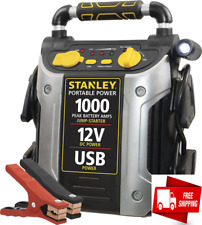 Portable Power Booster Pack Heavy Duty Battery Jump Starter Box Usb Charger