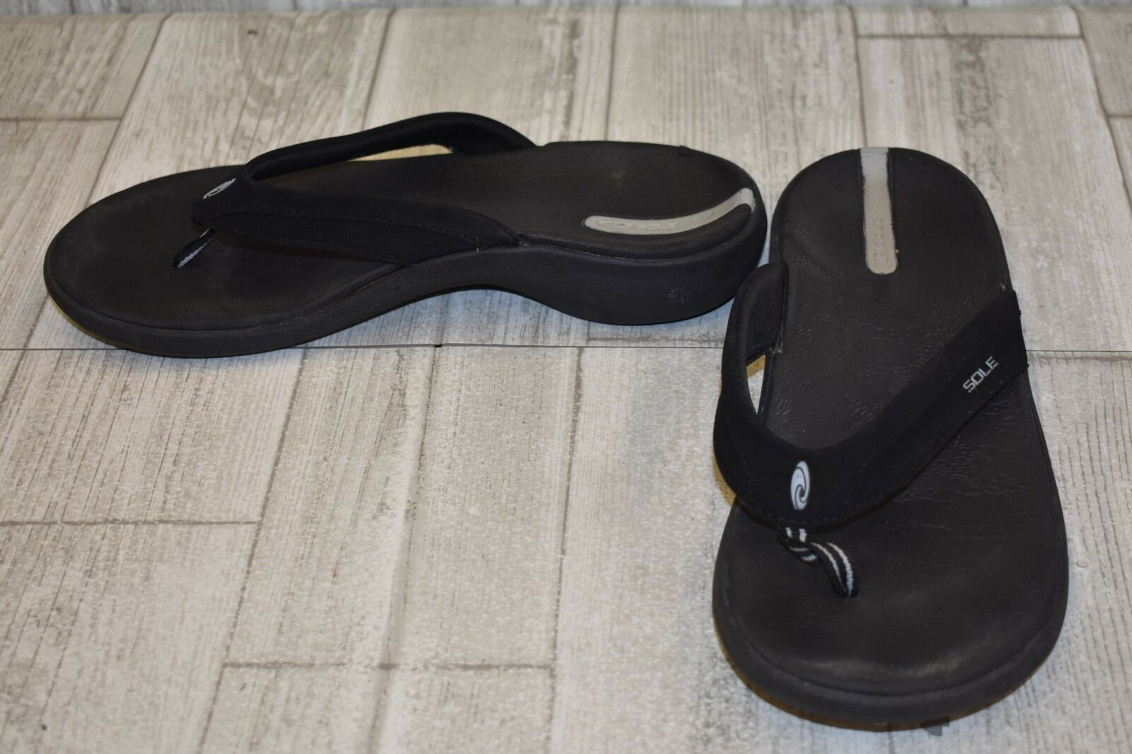 SOLE Casual Flip Flops - Men's Size 7 - Black