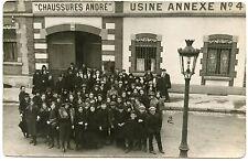 CARTE PHOTO. USINE CHAUSSURES ANDRé. ANNEXE N°4 . FABRIQUE. INDUSTRIE