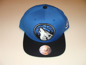 new styles 010c2 caf9b Image is loading Minnesota-Timberwolves-Cap-Hat-Snapback-Basketball-Mitchell -Ness-