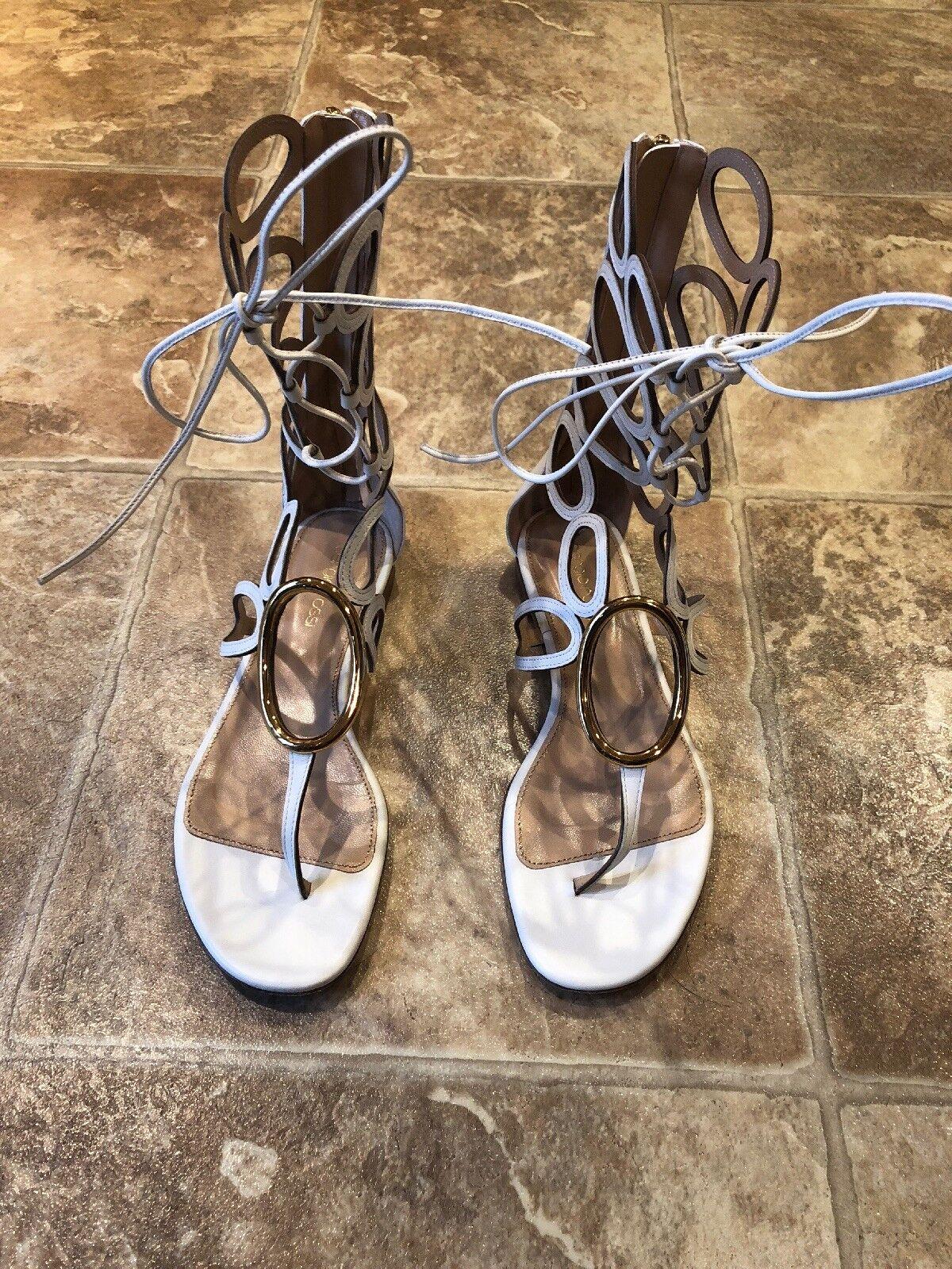 Sergio Rossi Gladiator Sandals, Size 37