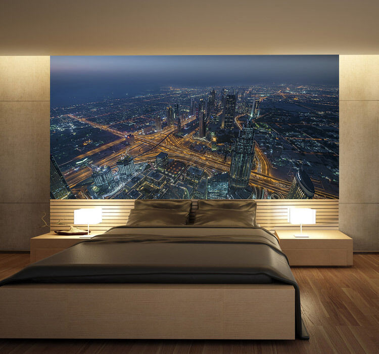 Burj Khalifa Dubai skyscrape Full Full Full Wall Mural Photo Wallpaper Print Home 3D Decal f91b44