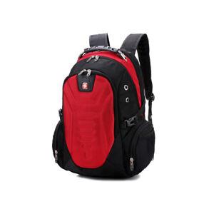 Red Swiss Men Women Backpack Laptop Bag Travel Hiking Bag Students School Bag