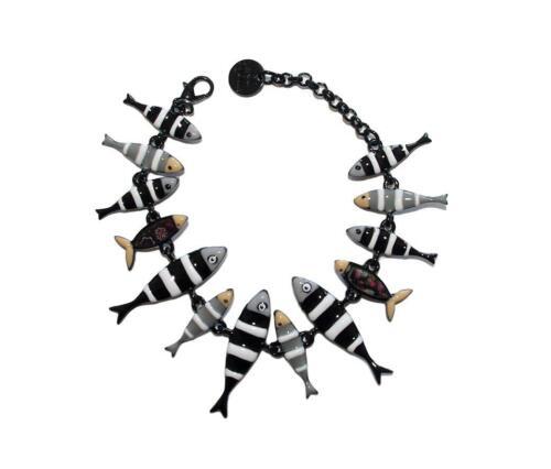 Lol Bijoux Sammlung Lolilota Armband Sardinen Schwarz und Onyx Fische