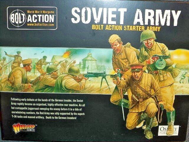 Ejército soviético Estrellater Set Perno acción 2nd segunda edición de la segunda guerra mundial Warlord Juegos Nuevo