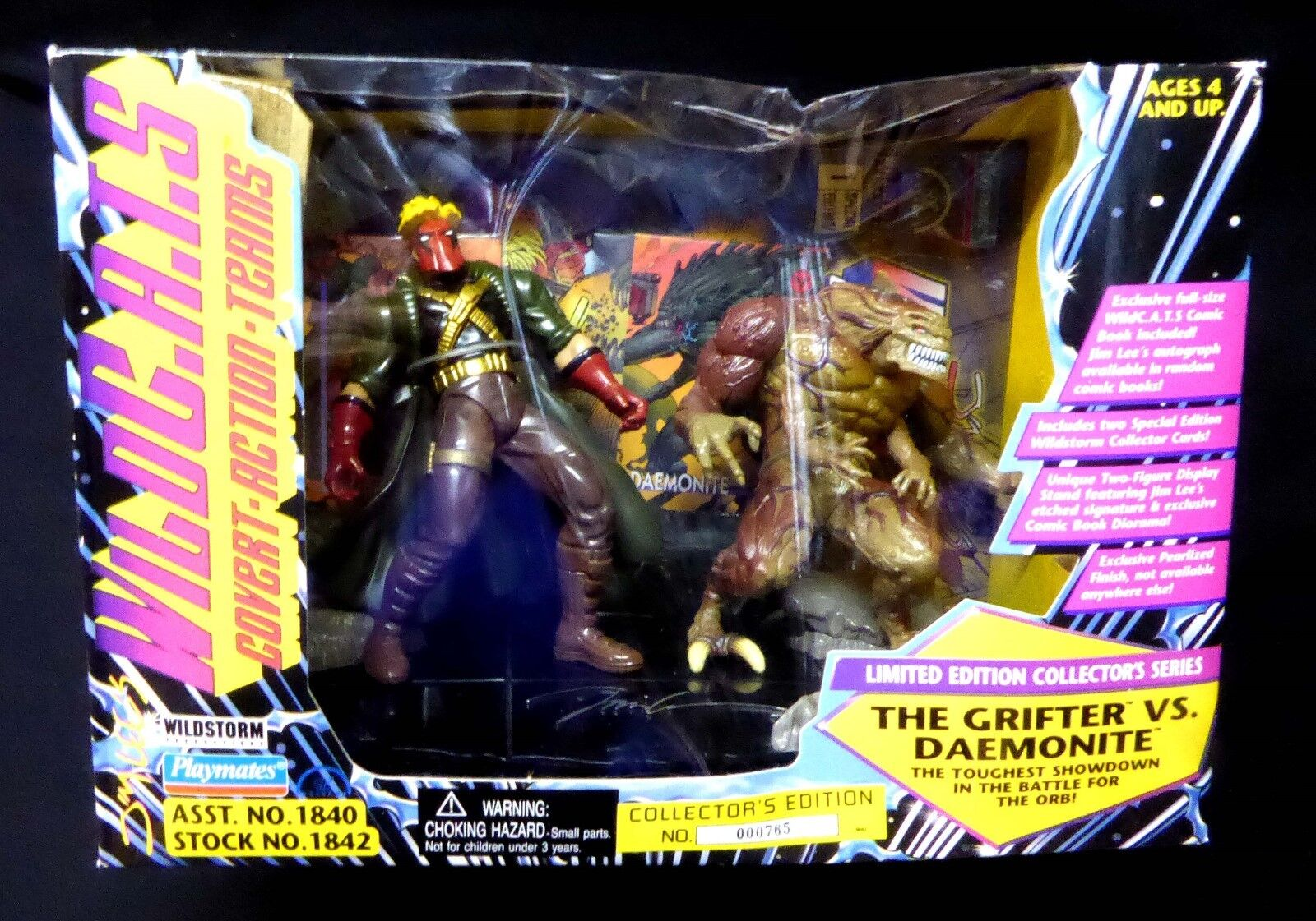 Wildcats The Jim Grifter VS Daemonite Jim The Lee Collector's Edition New 1995 Sealed 05fbf4