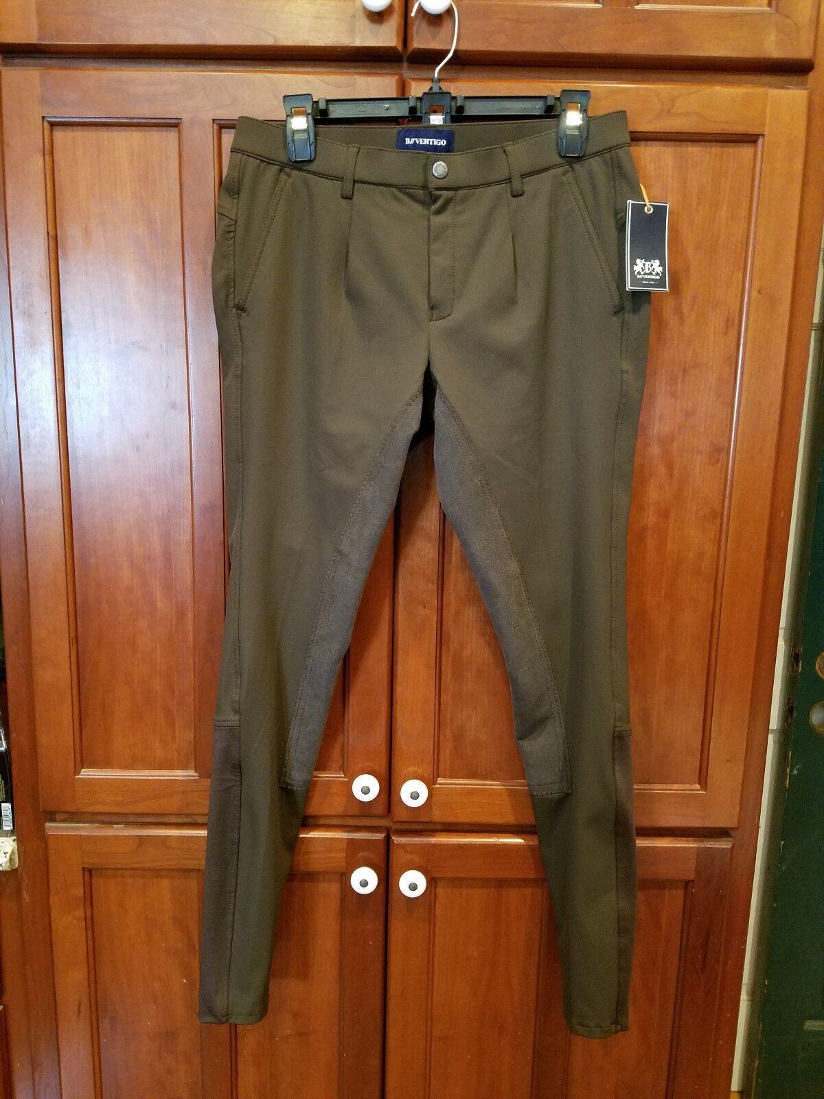 Nuevo Para hombres LIJADORA B vértigo Completo Asiento Equitación Pantalones de montar con mediana altura de la Cintura Nuevo con etiquetas