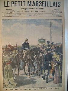 LONGCHAMPS-GP-COURSE-HIPPIQUE-PRINCE-OUROUSSOF-RUSSIE-LE-PETIT-MARSEILLAIS-1898