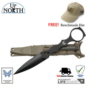 Benchmade-176BKSN-SOCP-SKELETONIZED-TACTICAL-DAGGER-AND-SAND-SHEATH-FREE-HAT