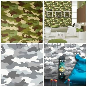Details About Camouflage Camo Army Wallpaper Kids Boys Room Decor