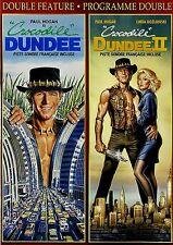 NEW DOUBLE FEATURE  DVD // CROCODILE DUNDEE + CROCODILE DUNDEE 2 - PAUL HOGAN