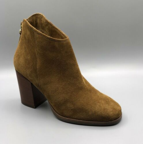 Ladies Warm Uk Tan Ankle Boots Suede New