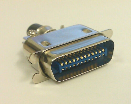 NEW 24 Pin Centronics Male Cable Mount Connector 57-30240