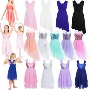 070d99a55 Kids Girl Tutu Ballet Dance Dress Ballerina Fairy Swan Dancewear ...