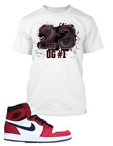 ac3bd5a0e 23 Tee Shirt to Match Retro Jordan 1 Air Shoe Mens Graphic Pro Club ...