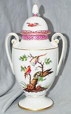 Tapa máximo y un jarrón, aves con nido, mano pintado, oro