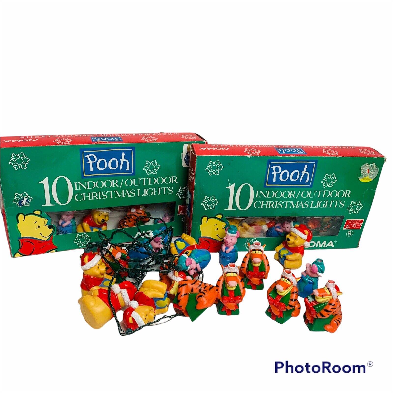 3 Disney Pooh Tigger Novelty Holiday String Lights 10 Count Indoor Outdoor