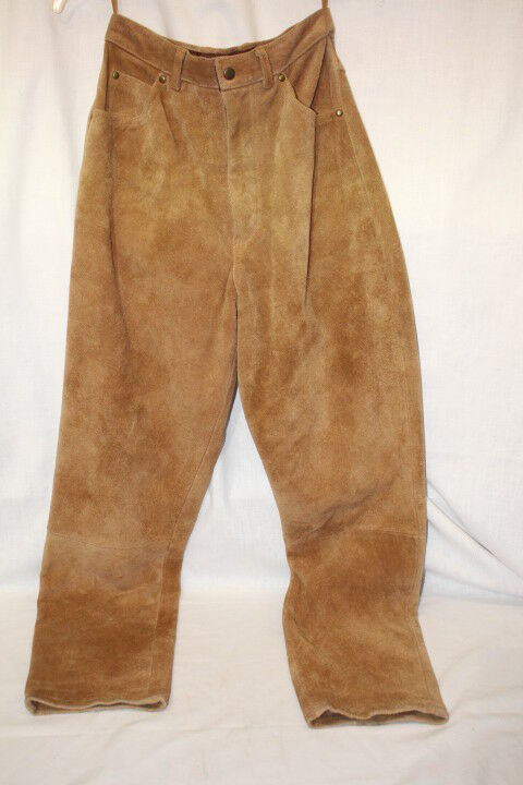 Brown 100% Genuine Leather  Riding  Pants Womens Size 9 10-B121