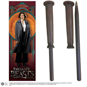 Sur De Soi Fantastic Beasts Porpentina Wand Pen And Bookmark Set Noble Collections Moderne Et EléGant à La Mode