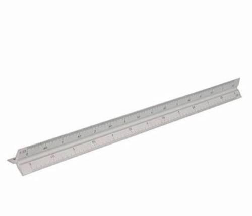 """4X 30cm Triangular Aluminium Tri Scale Metal Ruler Architect Engineers Rule 12/"""""""