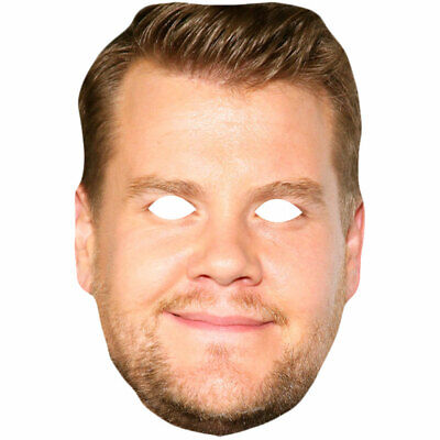 James Corden Celebrity Mask Card Face and Fancy Dress Mask