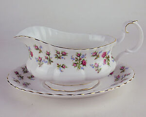 Gravy-Boat-with-Tray-Royal-Albert-Winsome-vintage-bone-china-England-reduced