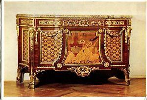 Alte-Kunstpostkarte-Wien-Museum-Kommode-mit-vergoldeten-Bronzebeschlaegen