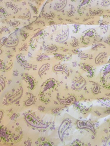 NWT Pottery Barn Kids Crib Sheet Fitted Paisley Lavender Rose Light Green PBK