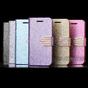 Bling-Glossy-Gilter-Wallet-Case-Cover-F-Samsung-Galaxy-S3-S4-S5-S6-Edge-Note-4-5