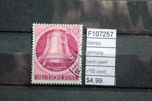 STAMPS-GERMANY-BERLIN-YVERT-N-65-USED-F107257