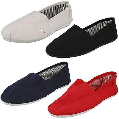 Mujer REFLEX Planas Lona Informal Alpargatas Zapatos Marina Blanca y rojo f8710