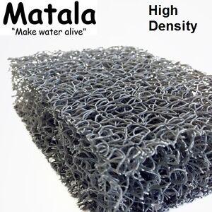 "Gray Matala 3-Pack Pond Filter Mat - 19""x24'' - High Density -koi-grey-value pk"