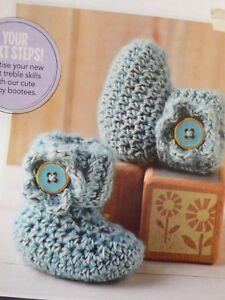 HonnêTe Baby Bootees Avec Fleurs Motif Taille 3-6 Mois Crochet Pattern-afficher Le Titre D'origine