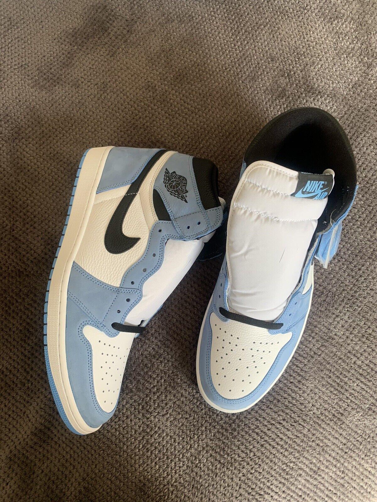 Jordan 1 retro high white University blue Size 15 UK DEADSTOCK