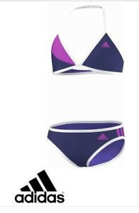 7e0d51310a3ef Image is loading adidas-Junior-Girls-Bikini-Swimming-Top-Bottoms-Brand-