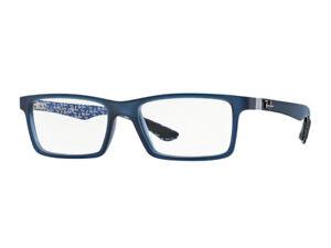 25a0ef32fc Image is loading Eyeglasses-Frames-Ray-Ban-RX8901-blue-demi-5262