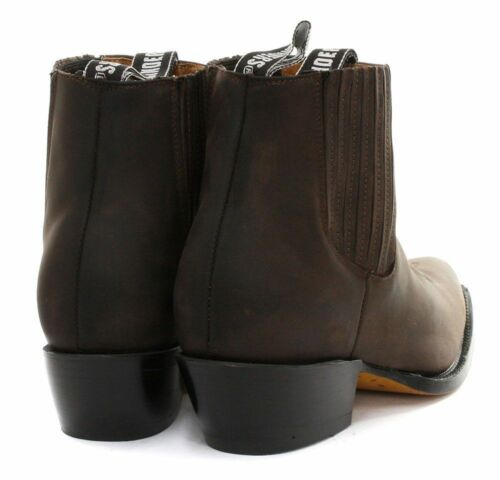 Maverick Ladies Slip Western Leather Brown Boot Cowboy Grinders On Boots Pointed 1rrqt