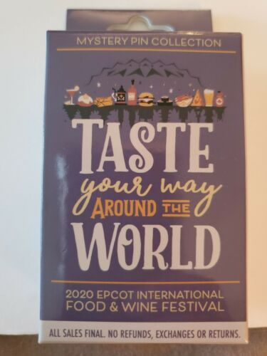 Disney Pin EPCOT Food And Wine Festval 2020 Mystery Minnie Mouse Taste Your Way