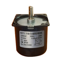 60KTYZ AC Synchronous Gear Motor 220V 20W 5r/min  8mm Shaft Diameter