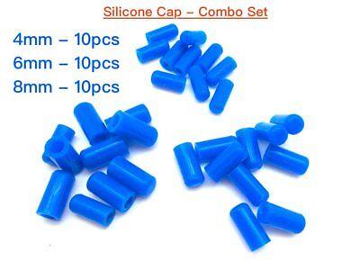 "10pcs Black Silicone Caps ID 6mm 1//4/"" Vacuum End Plug Tube Cover"