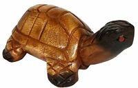 Tortoise Sculpture 7/18cm Hand Carved Ornament Acacia Wood