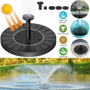 Springbrunnen Solar Pumpe Teichpumpe Brunnen Fontäne Garten Teich Wasserspiel
