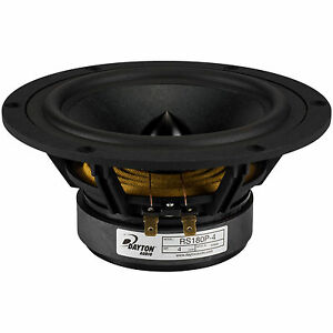 Dayton-Audio-RS180P-4-7-034-Reference-Papier-Tieftoener-4-Ohm