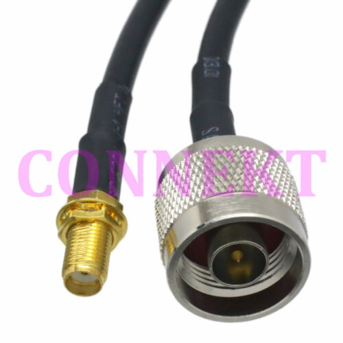 N male to SMA female nut bulkhead RG58 cable jumper pigtail 50cm